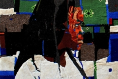 Olufemi-Oyewole-THE-AWAITING-COUPLE-1-2020-Carpet-on-canvas-40inches-by-40inches